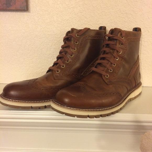 Timberland Men/'s Britton Hill Waterproof Boots Brown NIB
